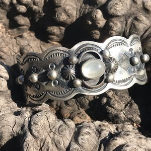 Chimney Butte Sterling Mother of Pearl Cuff